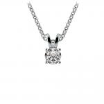 Round Diamond Solitaire Pendant in White Gold (1/4 ctw) | Thumbnail 01