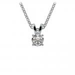 Round Diamond Solitaire Pendant in White Gold (1/5 ctw)   Thumbnail 01