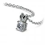 Round Diamond Solitaire Pendant in White Gold (1/5 ctw)   Thumbnail 03