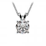 Round Diamond Solitaire Pendant in White Gold (2 ctw)   Thumbnail 01