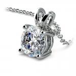 Round Diamond Solitaire Pendant in White Gold (2 ctw)   Thumbnail 03