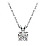 Round Diamond Solitaire Pendant in White Gold (3/4 ctw) | Thumbnail 01