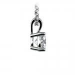 Round Diamond Solitaire Pendant in White Gold (3/4 ctw) | Thumbnail 02