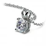 Round Diamond Solitaire Pendant in White Gold (3/4 ctw) | Thumbnail 03