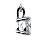 Round Diamond Solitaire Pendant in White Gold (3 ctw) | Thumbnail 02