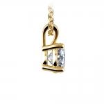 Round Diamond Solitaire Pendant in Yellow Gold (1 ctw) | Thumbnail 02