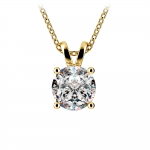 Round Diamond Solitaire Pendant in Yellow Gold (2 ctw) | Thumbnail 01