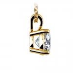 Round Diamond Solitaire Pendant in Yellow Gold (2 ctw) | Thumbnail 02