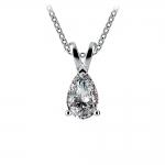 Pear Diamond Solitaire Pendant in Platinum (1/2 ctw) | Thumbnail 01