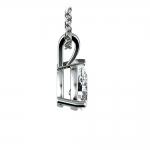 Pear Diamond Solitaire Pendant in Platinum (1/2 ctw) | Thumbnail 02
