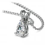 Pear Diamond Solitaire Pendant in Platinum (1/2 ctw) | Thumbnail 03