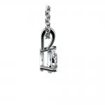 Pear Diamond Solitaire Pendant in Platinum (1/3 ctw) | Thumbnail 02