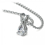 Pear Diamond Solitaire Pendant in Platinum (1/3 ctw) | Thumbnail 03