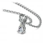 Pear Diamond Solitaire Pendant in Platinum (1/4 ctw)   Thumbnail 03