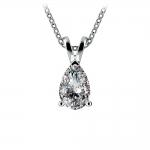 Pear Diamond Solitaire Pendant in Platinum (1 ctw) | Thumbnail 01