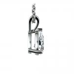Pear Diamond Solitaire Pendant in Platinum (1 ctw) | Thumbnail 02