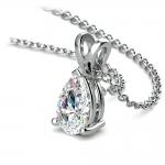 Pear Diamond Solitaire Pendant in Platinum (1 ctw) | Thumbnail 03