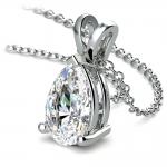 Pear Diamond Solitaire Pendant in Platinum (3 ctw) | Thumbnail 03
