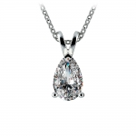 Pear Diamond Solitaire Pendant in White Gold (1 1/2 ctw) | Thumbnail 01