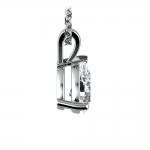 Pear Diamond Solitaire Pendant in White Gold (1 1/2 ctw) | Thumbnail 02