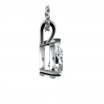 Pear Diamond Solitaire Pendant in White Gold (1 1/2 ctw) | Thumbnail 02