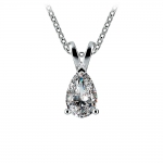 Pear Diamond Solitaire Pendant in White Gold (1/2 ctw) | Thumbnail 01