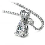 Pear Diamond Solitaire Pendant in White Gold (1/2 ctw) | Thumbnail 03