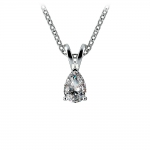 Pear Diamond Solitaire Pendant in White Gold (1/3 ctw) | Thumbnail 01