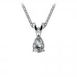 Pear Diamond Solitaire Pendant in White Gold (1/3 ctw)   Thumbnail 01