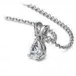 Pear Diamond Solitaire Pendant in White Gold (1/3 ctw)   Thumbnail 03
