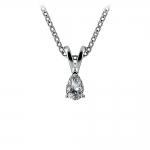 Pear Diamond Solitaire Pendant in White Gold (1/4 ctw)   Thumbnail 01