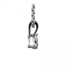 Pear Diamond Solitaire Pendant in White Gold (1/4 ctw) | Thumbnail 02