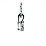 Pear Diamond Solitaire Pendant in White Gold (1/4 ctw)   Thumbnail 02