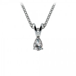 Pear Diamond Solitaire Pendant in White Gold (1/5 ctw) | Thumbnail 01