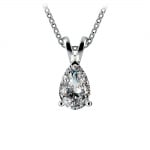 Pear Diamond Solitaire Pendant in White Gold (1 ctw) | Thumbnail 01