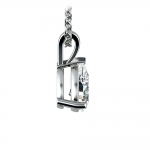 Pear Diamond Solitaire Pendant in White Gold (1 ctw) | Thumbnail 02