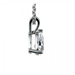 Pear Diamond Solitaire Pendant in White Gold (3/4 ctw) | Thumbnail 02