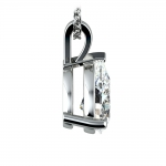 Pear Diamond Solitaire Pendant in White Gold (3 ctw) | Thumbnail 02