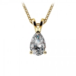 Pear Diamond Solitaire Pendant in Yellow Gold (1 ctw) | Thumbnail 01