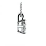 Princess Diamond Solitaire Pendant in Platinum (1/2 ctw)  | Thumbnail 02
