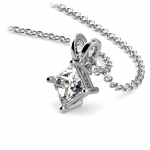 Princess Diamond Solitaire Pendant in Platinum (1/2 ctw)  | Thumbnail 03