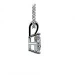 Princess Diamond Solitaire Pendant in Platinum (1/3 ctw)  | Thumbnail 02