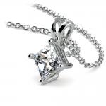 Princess Diamond Solitaire Pendant in Platinum (1 ctw)  | Thumbnail 03