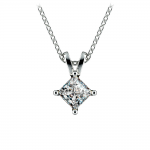 Princess Diamond Solitaire Pendant in Platinum (3/4 ctw)    Thumbnail 01