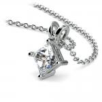 Princess Diamond Solitaire Pendant in Platinum (3/4 ctw)    Thumbnail 03