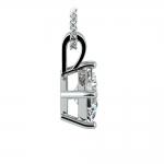 Princess Diamond Solitaire Pendant in White Gold (1 1/2 ctw)    Thumbnail 02