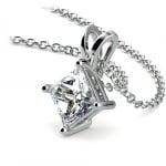 Princess Diamond Solitaire Pendant in White Gold (1 1/2 ctw)    Thumbnail 03
