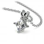 Princess Diamond Solitaire Pendant in White Gold (1/2 ctw)  | Thumbnail 03