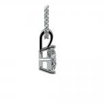 Princess Diamond Solitaire Pendant in White Gold (1/5 ctw)  | Thumbnail 02