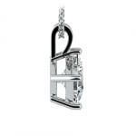 Princess Diamond Solitaire Pendant in White Gold (2 ctw)  | Thumbnail 02